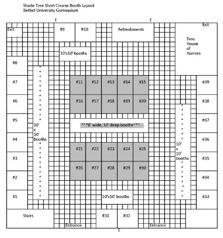 Shade Tree Exhibitor Layout