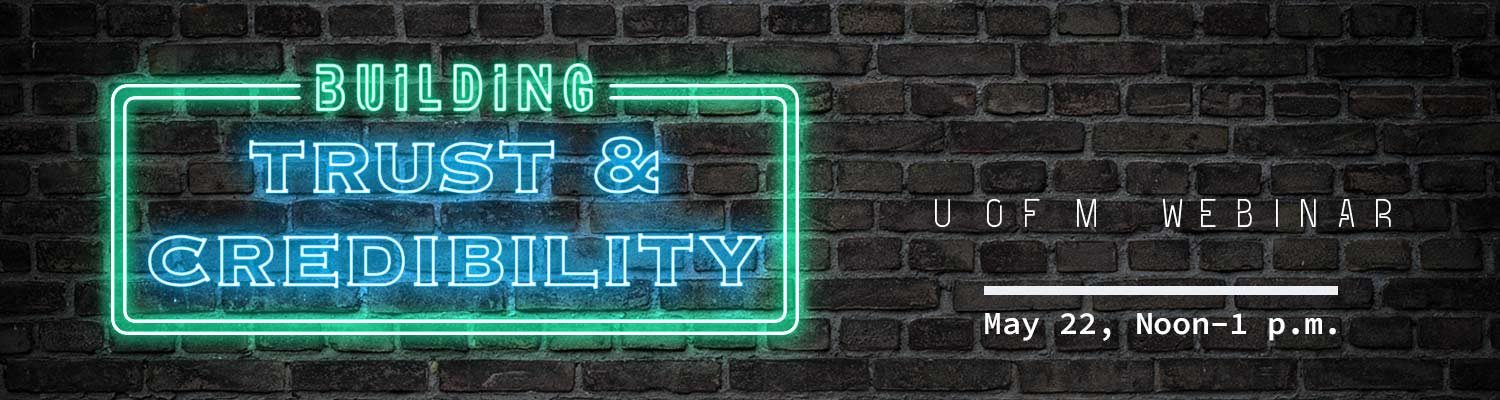 Building Trust & Credibility neon sign
