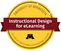 Digital badge for completing the Instructional Design for eLearning Certificate