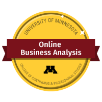 Online Business Analysis Digital Badge