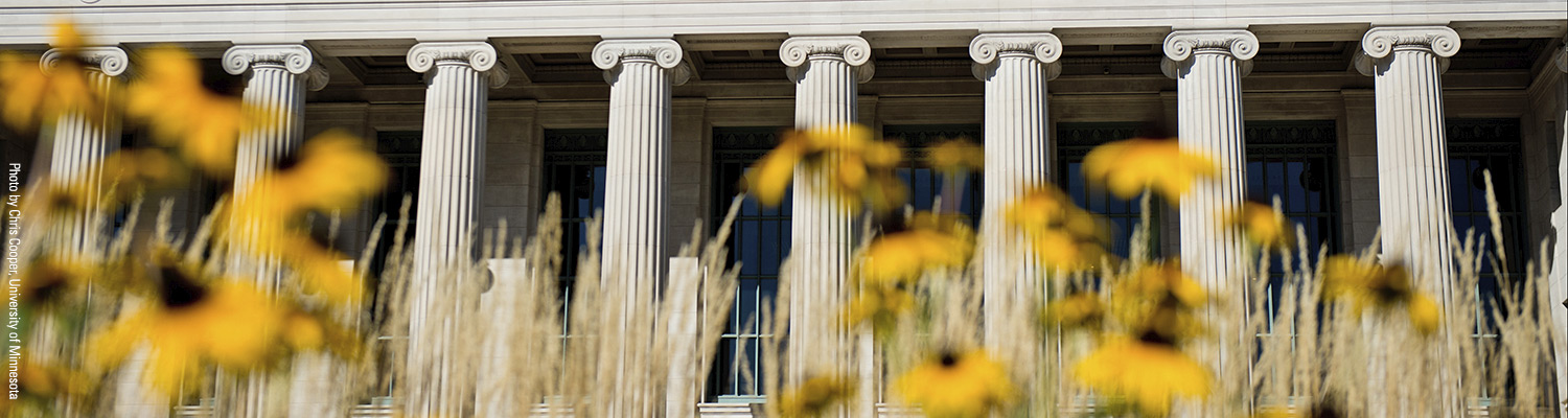 Enrichment Courses page header - U of M campus building columns