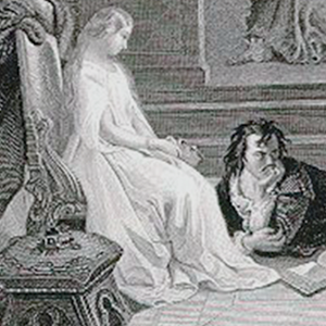 image of a drawing of a scene from a Shakespeare play