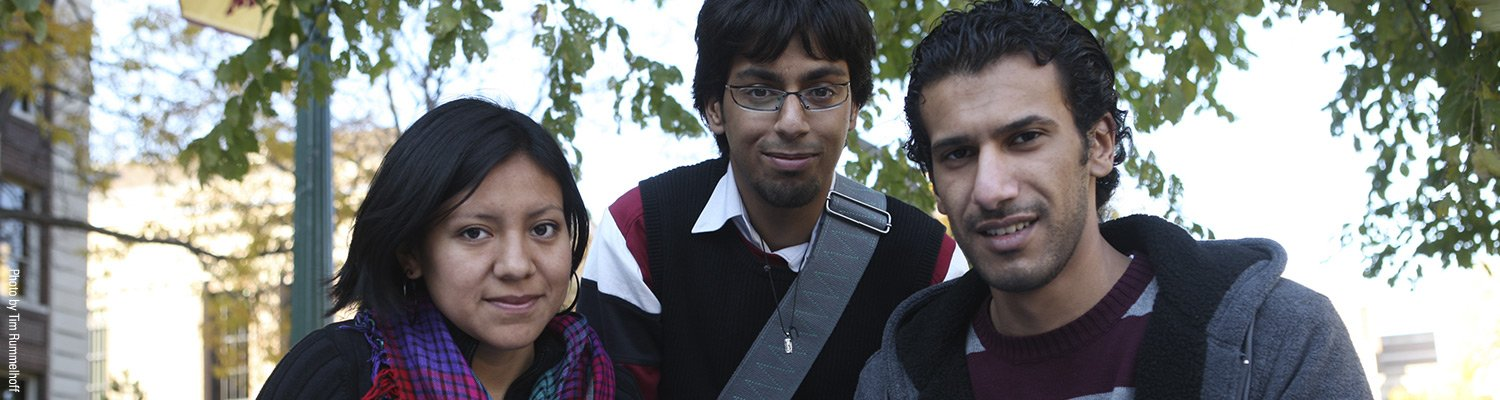 Photo of three ESL students