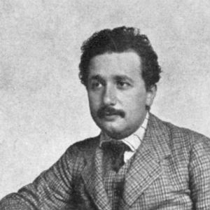 Portrait of a younger Albert Einstein
