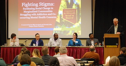 Associate dean Bob Stine and Fighting Stigma panel