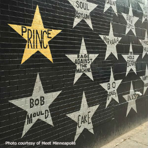 First Avenue wall of stars