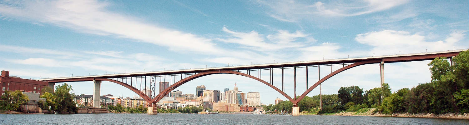 Saint Paul High Bridge over the Mississippi River with the city in background