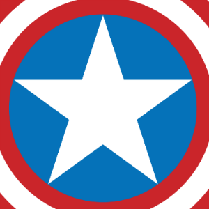 Iconic image of Captain America's shield