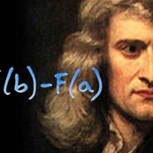 Newton and part of a calculus formula