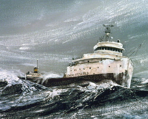 Painting of Edmund Fitzgerald