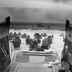 Invasion at Normandy, France, on D-Day