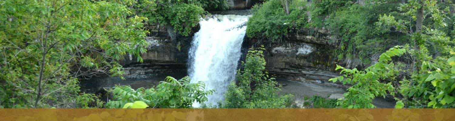 Minnehaha Falls in Summer