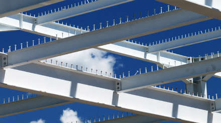 Structural_Engineering_Series_440x245 - image of steel beams against blue sky