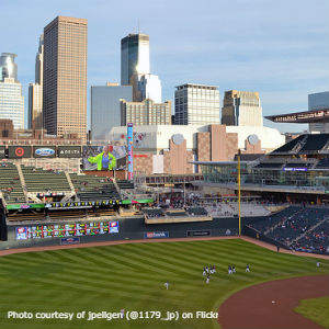 Target Field with skyline view