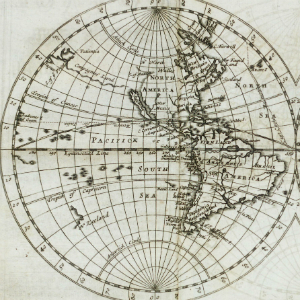 Antique nautical map of the world