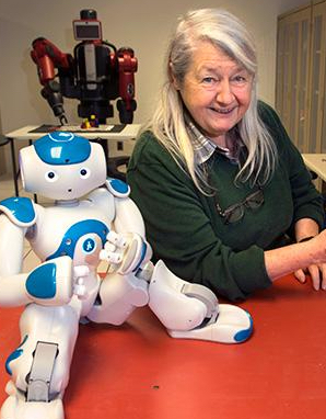 Maria Gini with robots