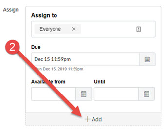 Scroll to the bottom of the page to the Assign section and click on the Add button.