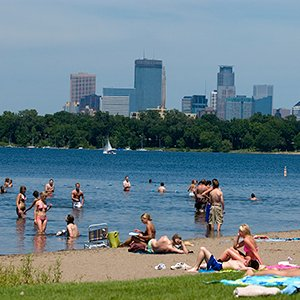 Great outdoors - Minneapolis beach scene