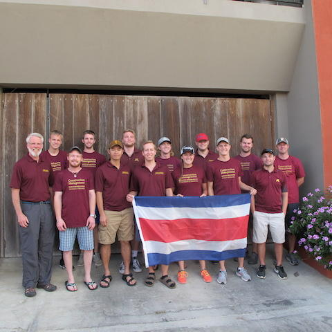 Costa Rica students and instructor