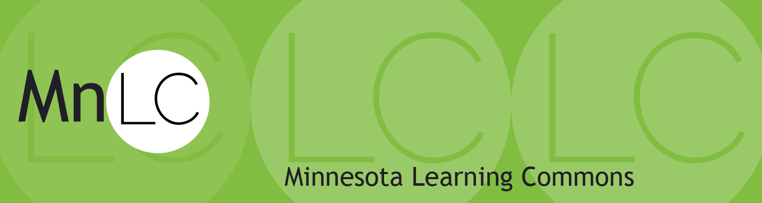 mn Learning Commons green graphic