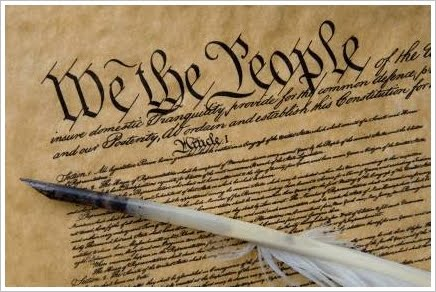 "Detail of the Constitution on parchment ""We the People"""